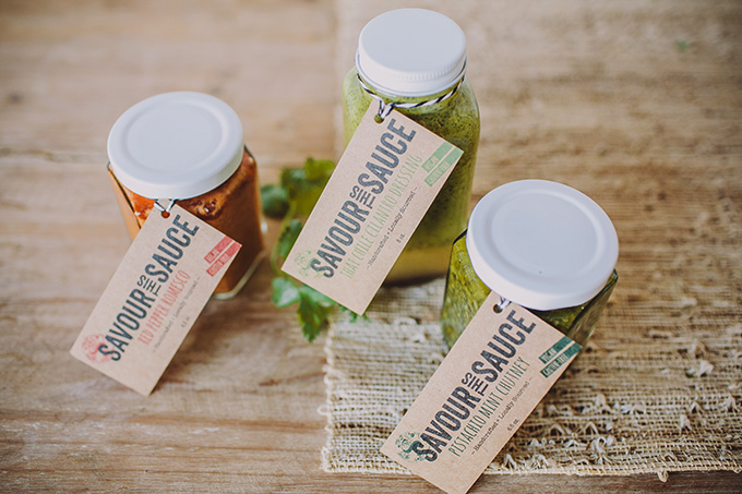 Savour This Sauce sauce hangtags by a little creative