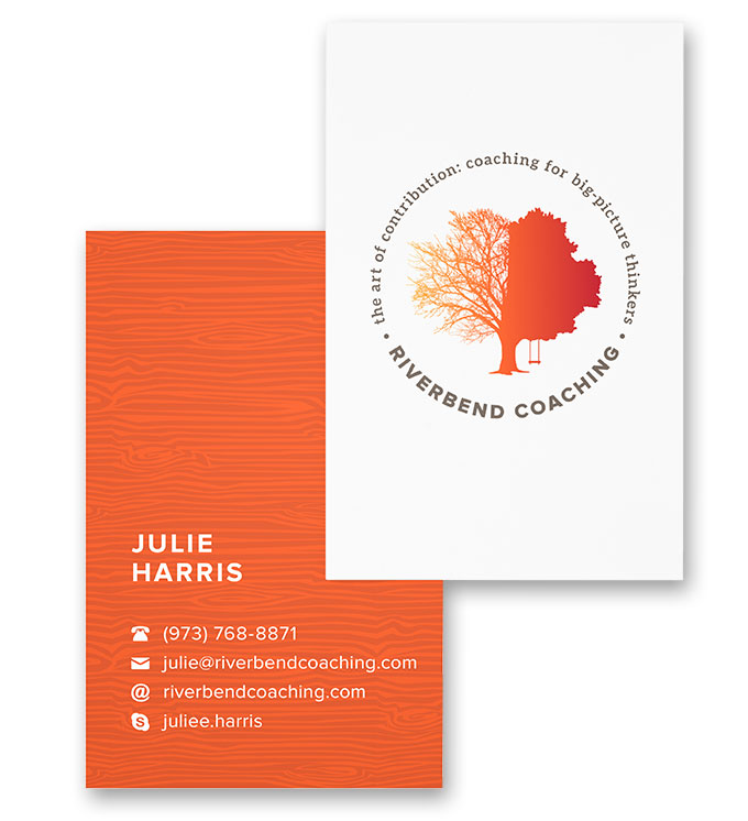 Riverbend Coaching business card by a little creative