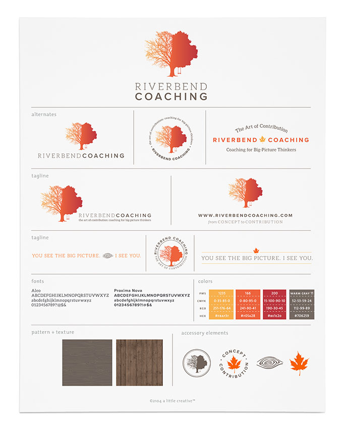 Riverbend Coaching brand board