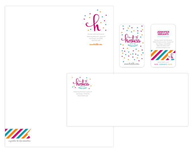 Hostess with the Mostess stationery by a little creative
