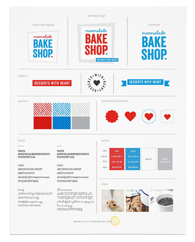 Marmalade Bakeshop Brand Board by a little creative