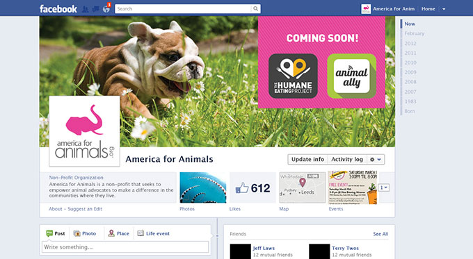 America for Animals Facebook Cover by a little creative