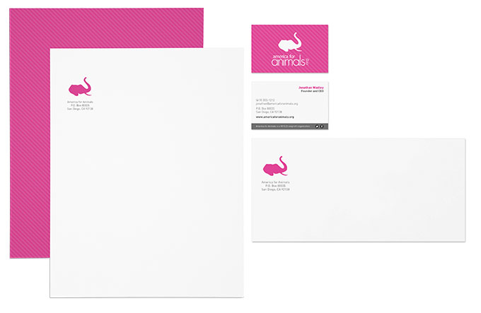 America for Animals stationery by a little creative