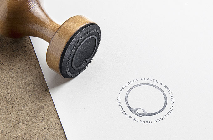 Holliday Health logo stamp by a littlecreative