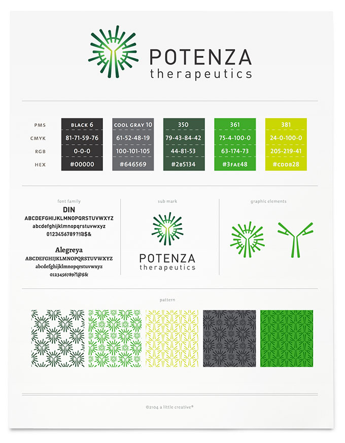 Potenza brand board by a little creative