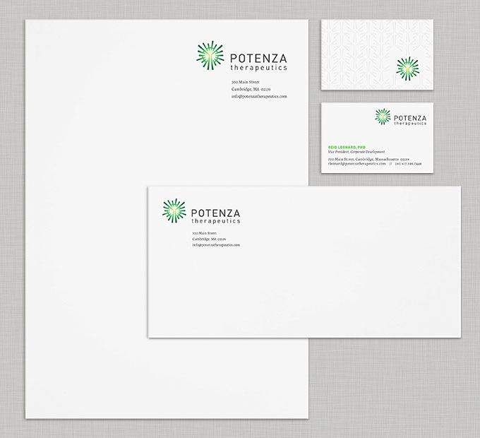 Potenza stationery by a little creative