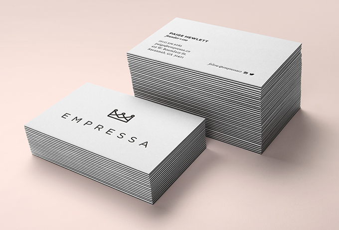 empressa business cards by a little creative