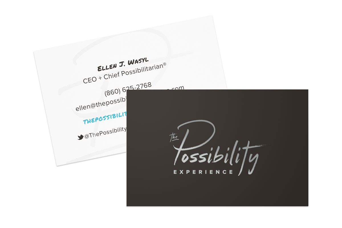 The Possibility Experience business cards // a little creative