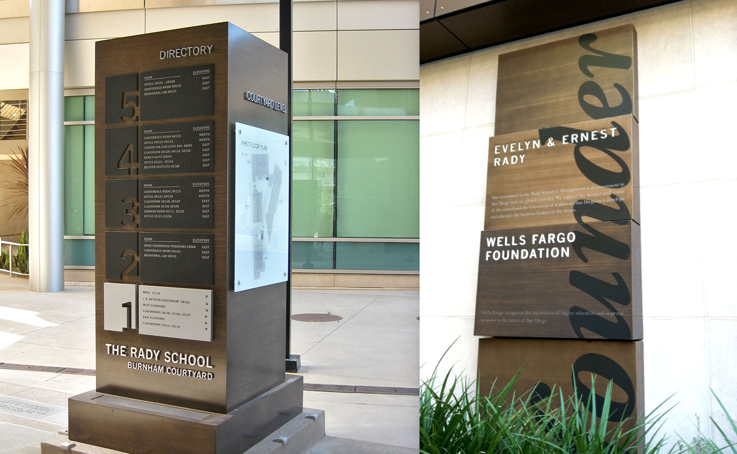 Rady School of Business campus signage // a little creative