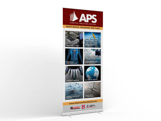 APS tradeshow banner // a little creative