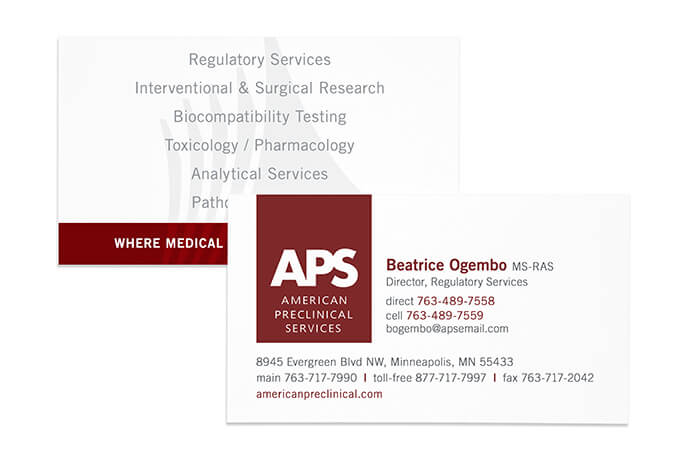 APS business card // a little creative