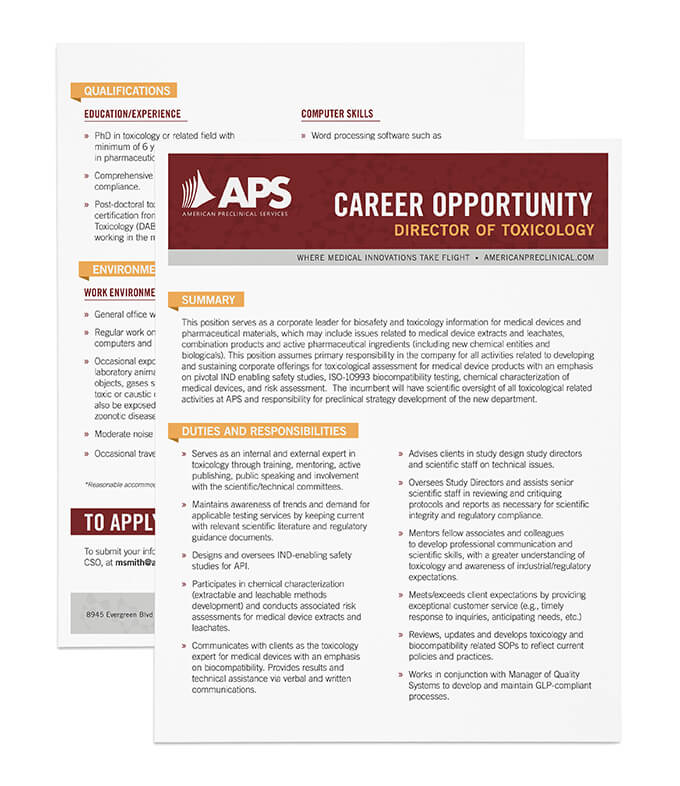 APS job description // a little creative
