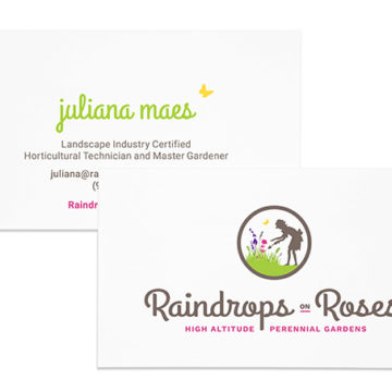 Raindrops on Roses Business Card