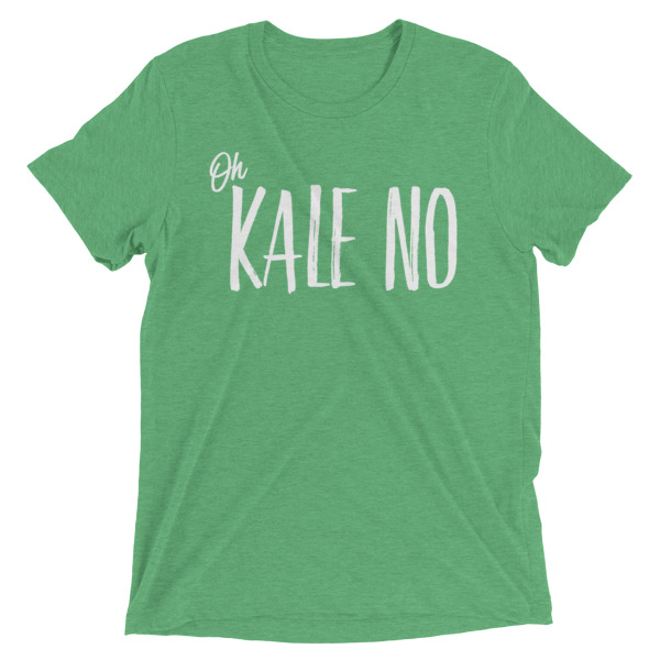 kale no tee in green // a little creative
