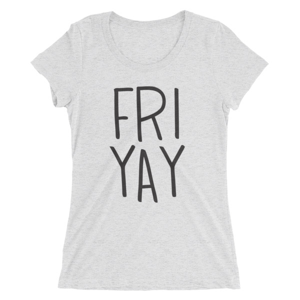 friyay scoopneck tee in white // a little creative