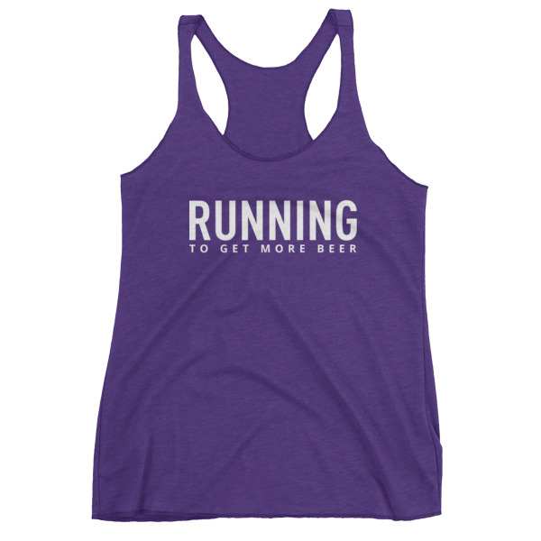 running to get more beer tank in purple // a little creative