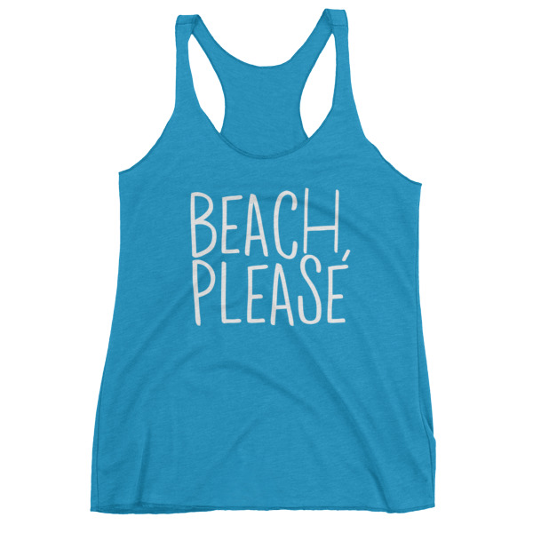 beach, please tank in turquoise // a little creative