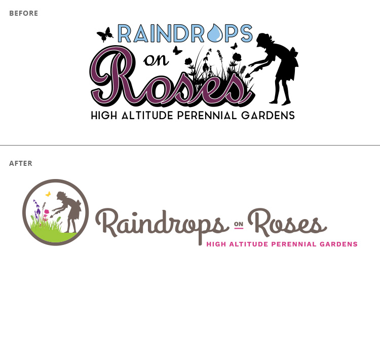 Raindrops on Roses logo // a little creative