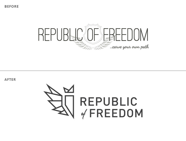 Republic of Freedom logo // a little creative