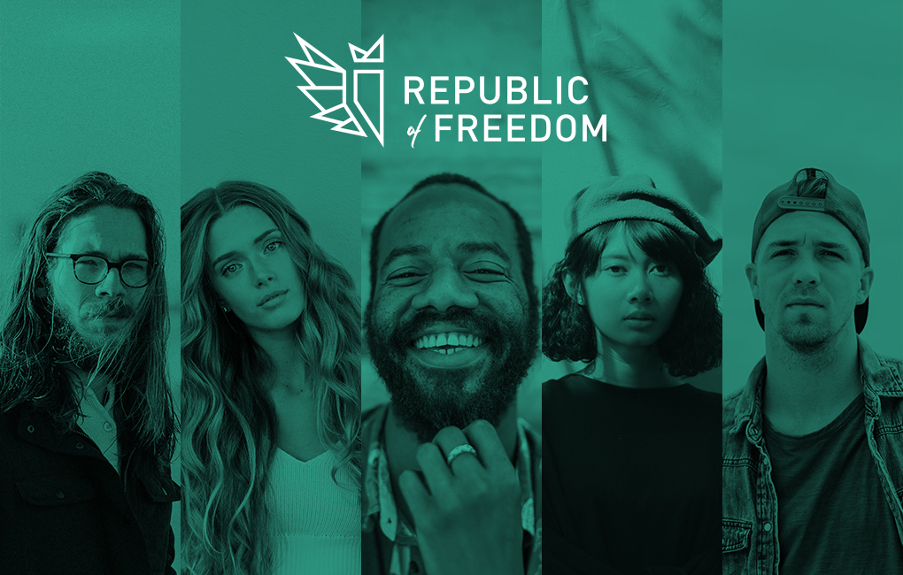 Republic of Freedom website header // a little creative