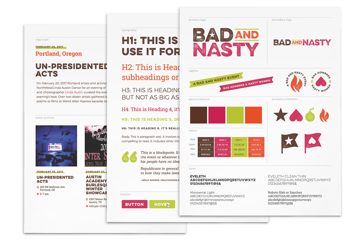 Bad and Nasty branding // a little creative